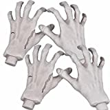 Halloween Skeleton Hands - Realistic Life Size Severed Fake Plastic Hands for Halloween Props Decoration, 4 Pieces