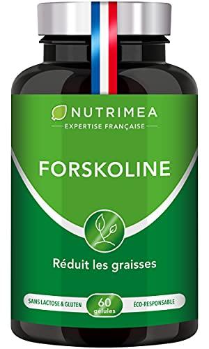 FORSKOLINE pure 500 mg/j - Brûle graisse 100% naturel – Coupe-faim - Aide à la perte de poids...