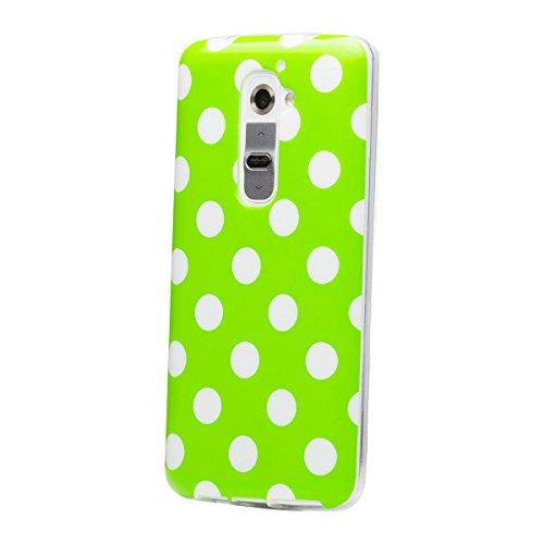 iCues - Custodia Compatibile con Nokia Lumia 930, Motivo a Pois, Colore: Verde