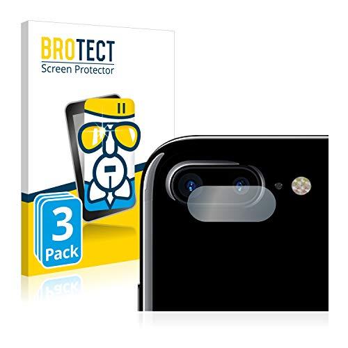 BROTECT Protector Pantalla Cristal Compatible con Apple iPhone 7 Plus (SÓLO Cámara) Protector Pantalla Vidrio (3 Unidades) - Dureza Extrema