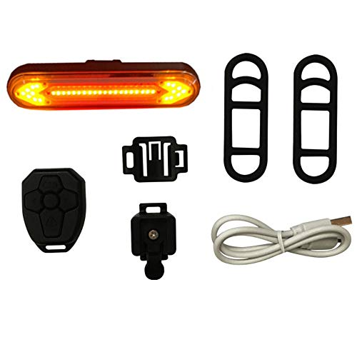Remote fiets achterlicht, links en rechts lampen USB opladen anti-vertigo fiets waarschuwingslampje