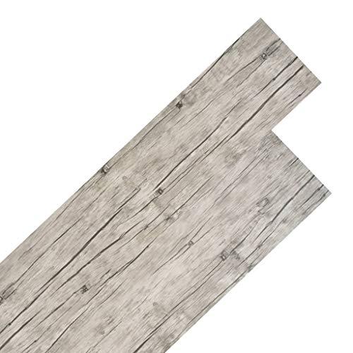 vidaXL PVC Laminat Dielen 5,26 m² 2 mm Eiche Gewaschen Vinylboden Bodenbelag