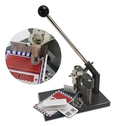 BAOSHISHAN 角丸 コーナーカッター 卓上 角丸切機 業務用名刺/カードの角切 pvc 紙 半径4mm/半径6mm/半径10mm 事務用品 黒い (R4)