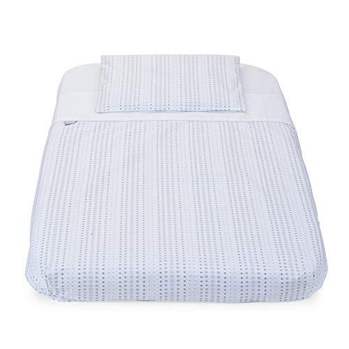 Chicco – Juego de 3 piezas Chicco Next2Me – Funda de almohada + sábana bajera + sábana de aire