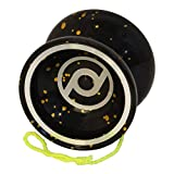 Spintastics Whiplash Professional Responsive Trick Yoyo with Ball Bearing Axle and Extra String (Black)