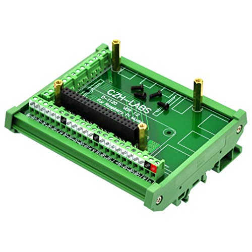 Electronics-Salon DIN Rail Mount Screw Terminal Block Adapter Module, for Raspberry Pi A+ 3A+ B+ 2B, 3B 3B+ 4B Zero Zero-W