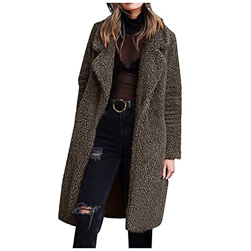 Hengyouhui Manteau d'hiver softshell pour femme - Veste matelassée d'hiver - Veste de sport - Doudoune - Grandes tailles, gris, M
