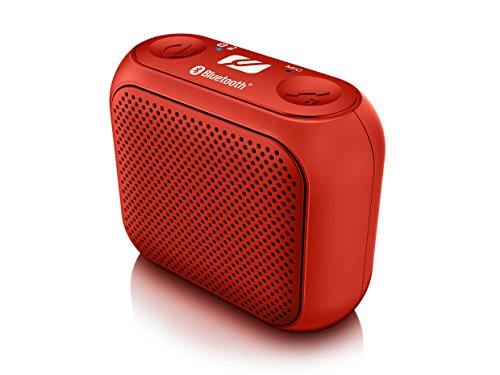 Muse M-312 BTB BTR Mini Bluetooth luidspreker met handsfree (draadloos, Apple iPhone/tablet, USB, AUX-in, 2 Watt RMS), Rood