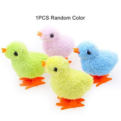 Monlladek Hochimitiertes Kükenspielzeug für Kinder Aufziehuhr-Küken-Küken, das Huhn-Uhrwerk-Spielzeug springt Süßes Plüschtier (zufällige Farbe)