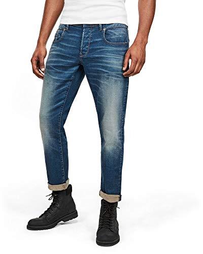 G-STAR RAW Men's Radar Zip Straight Tapered Fit Jeans - Blue - W33