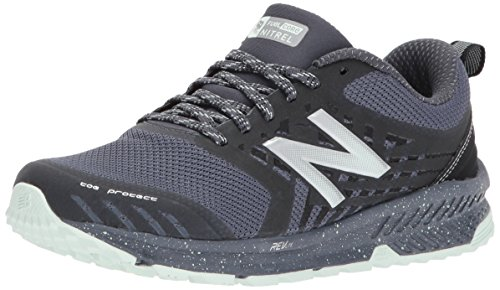 New Balance Women's Nitrel v1 FuelCore Trail Running Shoe, Grey/Black, 10 D US