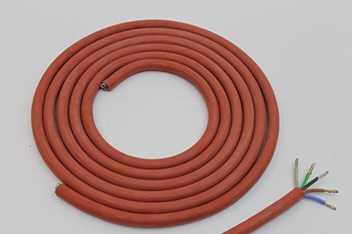 Doubleyou Geovlies & Baustoffe® Silikonkabel 5 x 2,5 mm Zuschnitt (4m) Silikonleitung Saunakabel - Hitzebeständig und optimal für den Einsatz in der Sauna