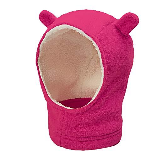 ANBET Unisex Baby Mütze, Kinder Fleece schalmütze Kleinkind Kapuze Schal Beanies Warm Earflap Hut Kappe Cap mit Ohren für Jungen Mädchen Mütze Schal (1-4 Jahre)