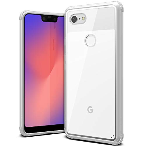 Google Pixel 3 XL ケース 耐衝撃 クリア 衝撃 吸収 ハイブリッド 薄型 スリム 透明 ハード カバー 対衝撃 ケース VRS DESIGN Crystal Chrome [ Google Pixel3 XL グーグル ピクセル 3 XL ] クリア