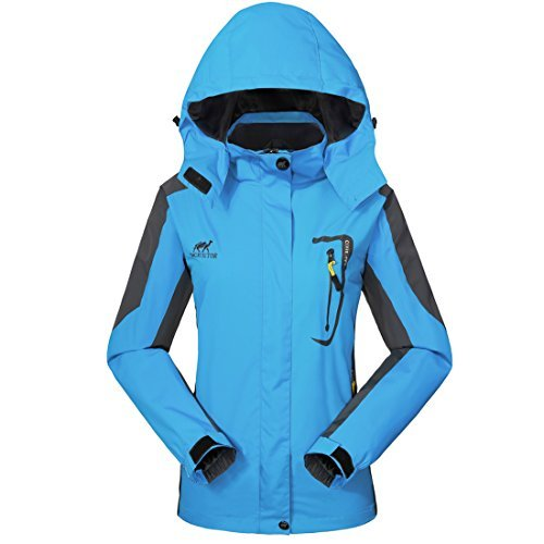 GIVBRO Waterproof Jacket Rain Coats for Women Outdoor Hooded Softshell Camping Hiking Mountaineer Travel Windproof Jackets
