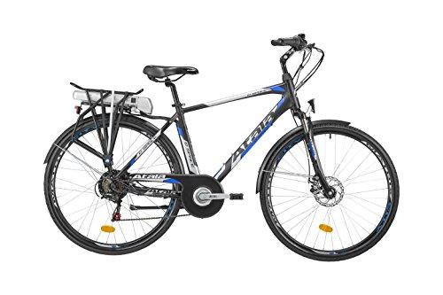 Citybike elettrica Atala con pedalata assistita E-SPACE MAN 400, misura unica 49cm (statura 170 - 185cm), 6 velocità, colore nero - blu opaco