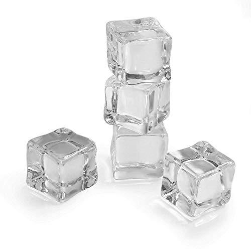 Cubo de hielo artificial, GOODCHANCEUK 25 unidades de 2,54 x 2,54 cm, cristal acrílico cuadrado transparente para exhibición o decoración de fotografía