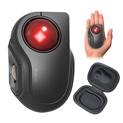 エレコムマウスBluetooth(iOS対応)トラックボールSサイズ小型人差し指5ボタン静音ブラックM-MT2BRSBK