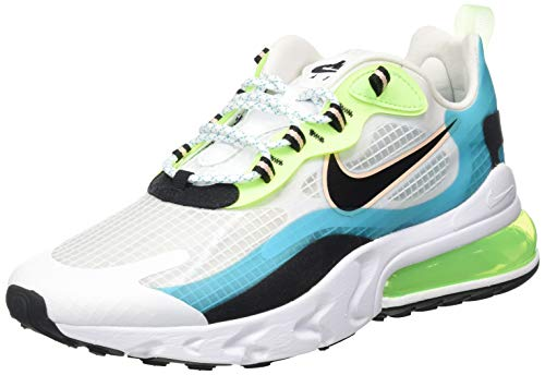 Nike Air MAX 270 React Se, Zapatillas para Correr Hombre, Oracle Aqua/Black-Ghost Green, 42.5 EU