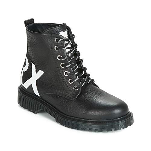 BRONX RIFKA CHUNKY Enkellaarzen/Low boots femmes Zwart Laarzen