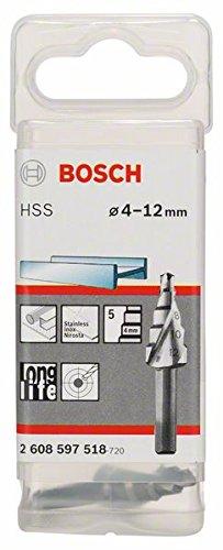 BOSCH, Punta a gradino HSS-TiN 4-12 mm, 6,0 mm, 65mm - 2608597518