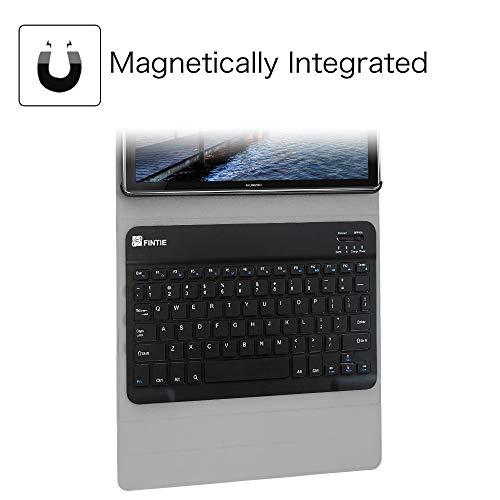 Fintie Huawei Mediapad M5 10.8/10.8 Pro QWERTZ Bluetooth Tastatur Hülle - Ständer Schutzhülle mit Magnetisch Abnehmbarer Drahtloser Deutscher Bluetooth Tastatur für Huawei M5 10,8 Zoll, Sternbild - 4