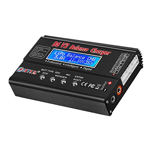 Cargador de batería LiPo, 80 W, 6 A, Balance cargador para Lipo Lilon LiHV LiFe NiMH NICD plomo ácido (negro)