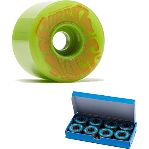 OJ III Skateboard Longboard Cruiser Wheels 60mm Super Juice 78A Green with CCS ABEC 7 Bearings