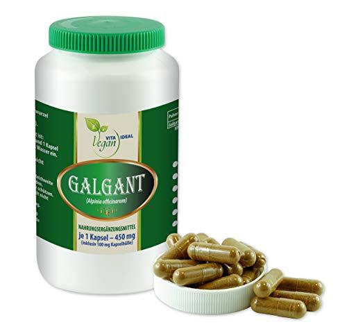 VITAIDEAL VEGAN Galgant (Alpina officinarum) 180 pflanzliche Kapseln je 450mg, rein natürlich ohne Zusatzstoffe.