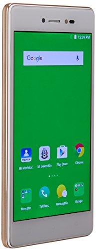 Smartphone Lava IRIS 80 color Dorado. Movistar pre-pago