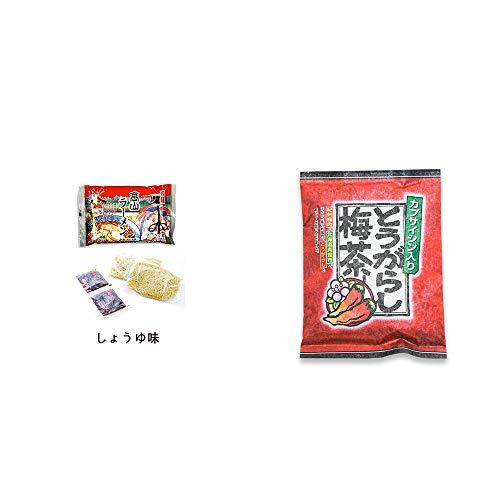 [2点セット] 飛騨高山ラーメン[生麺・スープ付 (しょうゆ味)]・とうがらし梅茶(24袋)