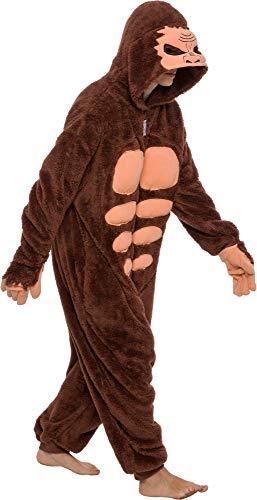 Funziez! Sasquatch Costume- Bigfoot - Yeti One Piece (Brown, Large)
