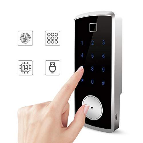 Cerradura de puerta con huella digital Cerradura con contraseña Sin manija de puerta para montar en la puerta de cualquier abertura