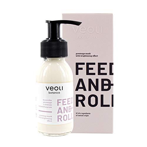 veoli Feed and roll Gesichtsmaske, reinigende Hautmaske 90ml alle Hauttypen, vegane Gommage Face Mask, Pflegemaske