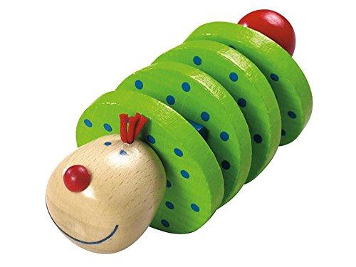 Haba 1068 - Flapsi Greifling, fröhliches Baby- und Kleinkindspielzeug, aus Holz ab 6 Monaten, Motorikspielzeug mit Klappergeräusch