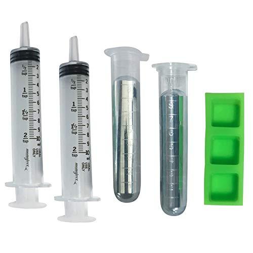 Gallium Liquid Metal 100 Grams, 99.99% Pure Melting Gallium - Two 50g Vials (100g), Two Syringes,...