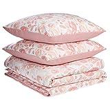Amazon Basics - Juego de fundas de edredón y almohada de microfibra premium (240 x 220 cm / 80 x 80 cm), rosa acuarela
