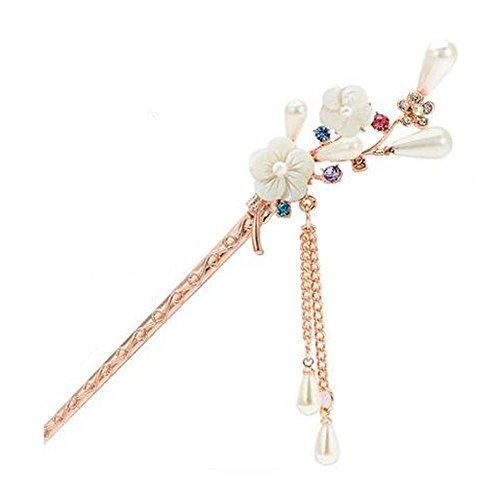 Style Classique, Perle, Perle, Épingle à cheveux, Métal, Strass, Décoration de cheveux, Blanc