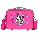 Disney Minnie Super Helpers Neceser Adaptable con Bandolera Rosa 29x21x15 cms Rígido ABS 9,14L