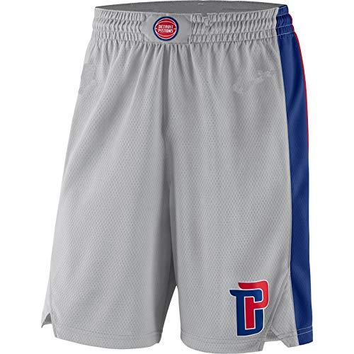 Niubai Pantalones cortos para hombre Detroit Grey,Pistons Statement Edition Swingman Pantalones cortos de baloncesto para hombre