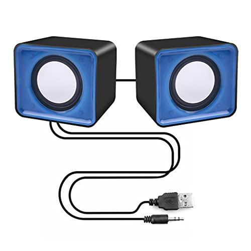 RYSF Portable Mini USB 2.0 Haut-Parleurs Musique Stéréo pour Ordinateur De Bureau PC Ordinateur Portable Ordinateur Portable Home Cinéma Party Haut-Parleur