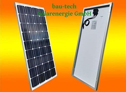 bau-tech Solarenergie 1 Stück 130 Watt Solarmodul Solarpanel Photovoltaik Solarzelle monokristallin GmbH