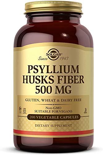 Solgar Fibra de cáscaras de Psyllium 500 mg Cápsulas vegetales - Envase de 200