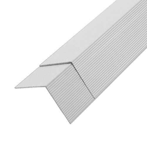 vidaXL 5x Winkelleiste für WPC Dielen Terrasse Alu 170cm L Winkel Kantenschutz