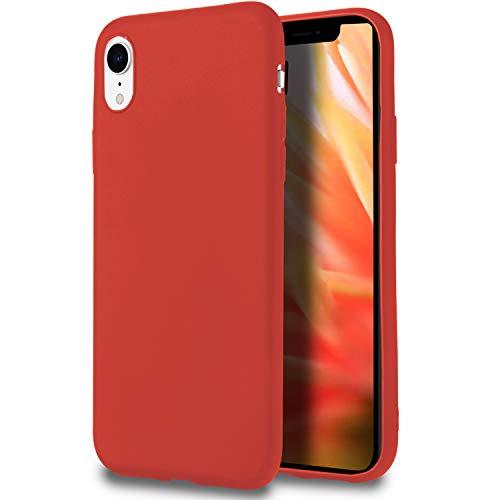 MyCase Funda Blanda para iPhone XR | TPU | en Rojo | Resistente a Golpes