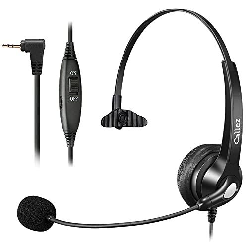 Auricular Dect de 2,5 mm con micrófono, cancelación de ruido, inalámbrico, para Gigaset C430A, C530, S810, S850, CL660, Grandstream Cisco SPA Polycom, transparente, ultra cómodo