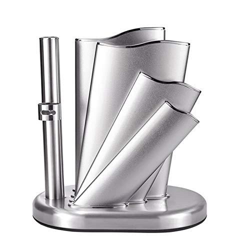 WZHZJ Estante de Almacenamiento de Cuchillos para el hogar Nuevo Soporte de Cuchillo de Acero Inoxidable Soporte de Cuchillo Herramienta de Cocina de Metal Multifuncional Utensilios de Cocina