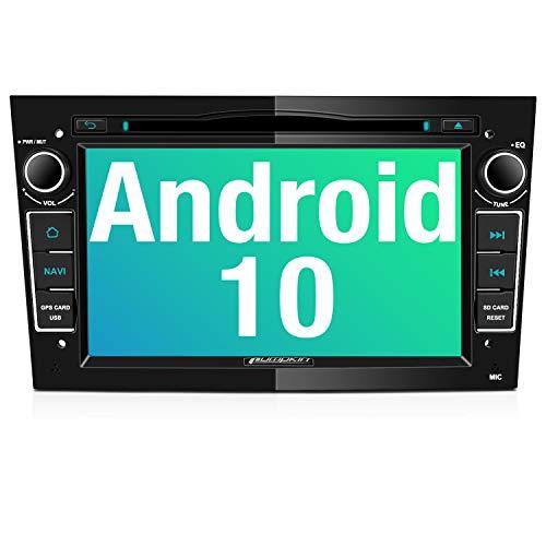 PUMPKIN Android 10 Autoradio für Opel Radio mit Navi CD DVD Player Unterstützt Bluetooth DAB+ WiFi 4G USB Android Auto MicroSD 7 Zoll Bildschrim Schwarz
