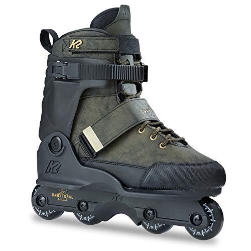 K2 Skate Unnatural Inline Skates, Size 11, Black/Black/Gold