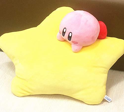 Anime Peluche de Juguete Star Kirby Estrella de Cinco Puntas Kirby Almohada Cojín Animal de Peluche Bebé Niños Regalo de cumpleaños Niños Peluche Almohadas 54x28cm Amarillo